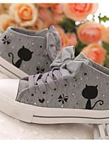 Women's Sneakers Comfort Spring Summer Canvas Casual Light Grey Dark Grey Gray Flat