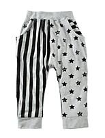 Pantalones Chico Geométrico Algodón Primavera Otoño