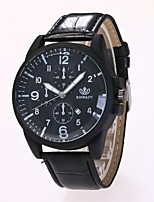 Men's Dress Watch Fashion Watch Wrist watch Chinese Quartz PU Band Casual Black Brown