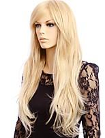 Mujer Pelucas sintéticas Sin Tapa Largo Liso Rubio Peluca natural Las pelucas del traje