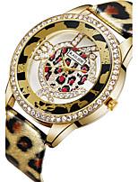 ASJ Жен. Модные часы Японский Кварцевый PU Группа Серебристый металл Золотистый