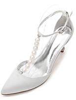 Femme Chaussures de mariage Escarpin Basique Bride de Cheville Salomé Nouveauté D'Orsay & Deux Pièces Printemps Eté Satin Mariage Habillé