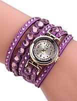 Жен. Модные часы Часы-браслет Уникальный творческий часы Китайский Кварцевый PU Группа С подвесками Повседневная Элегантные часы Черный