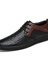Men's Shoes Real Leather Cowhide Nappa Leather Spring Fall Driving Shoes Formal Shoes Comfort Oxfords Lace-up For Casual Office & Career