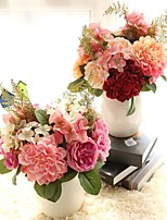 1 Piece 1 Branch Polyester Hydrangeas Tabletop Flower Artificial Flowers