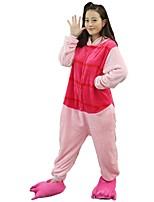 Kigurumi Pyjamas Schweinchen/Schwein Fest/Feiertage Tiernachtwäsche Halloween Modisch Bestickt Flanell Cosplay Kostüme Schuhe Kigurumi Für