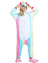 Kigurumi Pajamas Flying Horse Leotard/Onesie Shoes Festival/Holiday Animal Sleepwear Halloween Fashion Embroidered Flannel Fabric Cosplay
