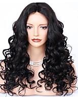 жен. Бразильские волосы Натуральные волосы Реми Полностью ленточные 360 Лобовой Бесклеевая сплошная кружевная основа 150% 180% плотность