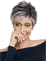 Women Synthetic Wig Capless Short Loose Wave Grey Dark Roots Natural Wigs Costume Wigs