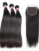 Человека ткет Волосы Бразильские волосы Прямые 1 год 4 предмета волосы ткет кг Пряди с быстрым креплением