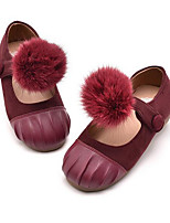 Girls' Flats Comfort Spring Fall Leatherette Casual Wine Coffee Flat