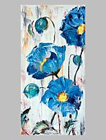 Ручная роспись Цветочные мотивы/ботанический Художественный Абстракция На открытом воздухе 1 панель Холст Hang-роспись маслом For