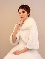Women's Wrap Shrugs Faux Fur Wedding Party/ Evening Pattern / Print