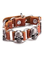 Men's Leather Bracelet Jewelry Vintage Alloy Skull / Skeleton Jewelry For Daily