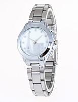 Жен. Модные часы Наручные часы Китайский Кварцевый сплав Группа Повседневная Серебристый металл Золотистый