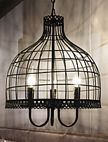 American Creative Birdcage Chandelier Industrial Wind Restoring Ancient Ways Wrought Iron Net Cafe Restaurant Clothing Store Decca