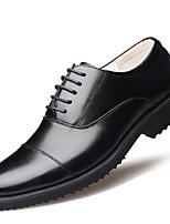 Для мужчин обувь Натуральная кожа Кожа Осень Зима Удобная обувь Формальная обувь Туфли на шнуровке Шнуровка Назначение Повседневные Черный