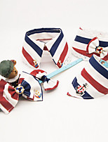 Collar Leash Portable Breathable Safety With Bell Stripe Fabric