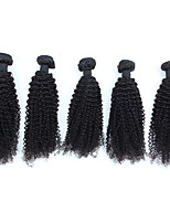 Natural Color Hair Weaves Peruvian Texture Kinky Curly 6 Months Five-piece Suit hair weaves