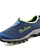 Men's Loafers & Slip-Ons Comfort Light Soles Spring Summer Breathable Mesh PU Casual Outdoor Flat Heel Dark Grey Dark Blue 1in-1 3/4in