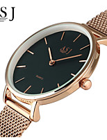 ASJ Муж. Жен. Нарядные часы Модные часы Японский Кварцевый Позолоченное розовым золотом Нержавеющая сталь Группа минималист Серебристый