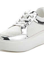 Women's Sneakers Comfort Spring Fall Patent Leather Casual Blushing Pink Silver 2in-2 3/4in