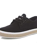 Для женщин Обувь Полотно Весна Осень Удобная обувь Кеды С Назначение Повседневные Белый Черный