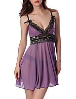 Lingerie en Dentelle Ultra Sexy Vêtement de nuit Femme Mosaïque Polyester