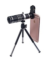 3 в 1 комплект объективов для смартфонов 18-кратный оптический зум телеобъектив 0.45x широкоугольный объектив 15x макросъемка мини-штатива