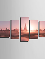 Toile Cinq Panneaux Toile Format Vertical Imprimé Décoration murale For Décoration d'intérieur