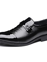 Men's Loafers & Slip-Ons Formal Shoes Comfort Fall Winter Leatherette Casual Split Joint Flat Heel Low Heel Black Under 1in