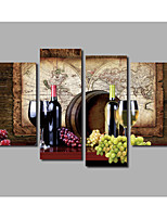 Tela de impressão Abstracto,4 Painéis Tela Horizontal Estampado Decoração de Parede For Decoração para casa