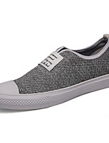 Men's Loafers & Slip-Ons Comfort Spring Fall Canvas Casual Outdoor Flat Heel Gray Black Flat