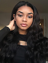 Women Human Hair Lace Wig Full Lace Wigs 180% Density Body Wave Wigs Malaysian Hair Black Long