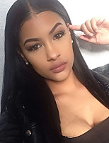 Women Human Hair Lace Wig Glueless Lace Front 130% Density With Baby Hair Straight Wigs Brazilian Hair Black Short Medium Long Natural