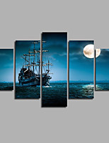 Sailing Seascape Ship Blue Sea Art Picture Home Decor Wall Painting On Canvas Poster & prints For Modern Home Corridor Decor Unframed
