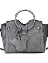 Women Bags All Seasons PU Shoulder Bag with for Shopping Casual Black Blushing Pink Gray Light Gray