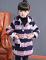 Girls' Print Suit & Blazer,Polyester Fall Winter Long Sleeve