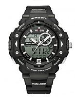 Homens Relógio Esportivo Relógio de Pulso Relógio Casual Relogio digital Suíço Digital LED Calendário Cronógrafo Dois Fusos Horários