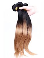 Омбре Перуанские волосы Прямые 12 месяцев 3 волосы ткет кг Пряди с быстрым креплением