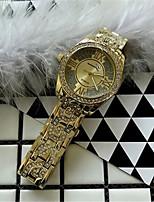 Жен. Модные часы Часы со стразами Кварцевый сплав Группа Блестящие Серебристый металл Золотистый Розовое золото