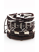 Men's Women's Leather Bracelet Bohemian Adjustable Leather Line Irregular Jewelry For Stage Club