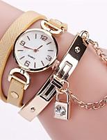 Жен. Модные часы Часы-браслет Имитационная Четырехугольник Часы Китайский Кварцевый Имитация Алмазный PU Группа Богемные Повседневная
