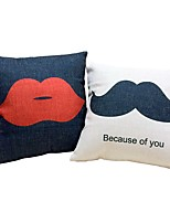 2 pcs Cotton/Linen Bed Pillow Body Pillow Travel Pillow Sofa Cushion Pillow Cover,Pattern Special Design Sexy Classic Style Modern Style