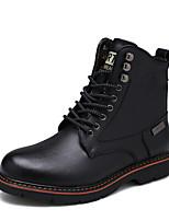 Для мужчин Туфли на шнуровке Зимние сапоги Армейские ботинки Осень Зима Натуральная кожа Кожа Повседневные Для вечеринки / ужина Заклепки