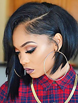 жен. Парики из натуральных волос на кружевной основе Бразильские волосы Натуральные волосы Бесклеевая сплошная кружевная основа 150%