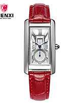 CHENXI® Жен. Нарядные часы Модные часы Китайский Кварцевый Кожа Группа С подвесками Cool Повседневная Черный Красный Коричневый