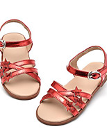 Girls' Sandals Comfort Summer Leatherette Casual Blushing Pink Silver Flat