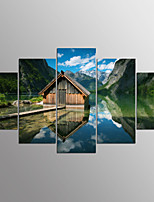 Stretched Canvas Print Abstract,Five Panels Canvas Horizontal Print Wall Decor For Home Decoration