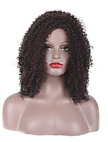 Mujer Pelucas sintéticas Sin Tapa Corto Medio Ondulado Rizado rizado Castaño rojizo oscuro Raya en medio Para mujeres de color Entradas